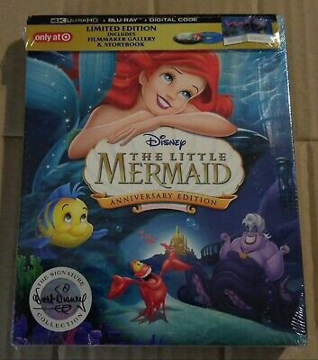 New The Little Mermaid 4K Ultra HD/Bluray Target USA + Storybook (not Digibook)