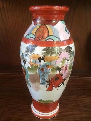 Antique Asian Oriental Japanese Vase