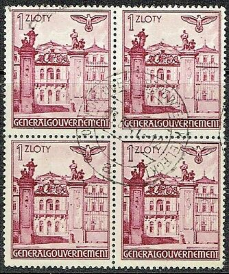 Germany General Government 1940 Building Used Block X 4. As Is See Scan