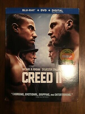 Creed 2 Ii (2019 Blu-Ray + Dvd + Digital) With Slipcover! Sylvester Stallone
