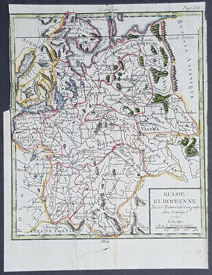 1750 Robert De Vaugondy Antique Map of Russia in Europe