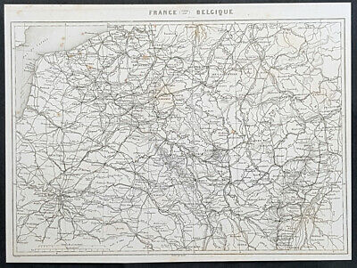 1835 Marie Adolphe Thiers Antique Map of NE France & Belgium - French Rev. 20600