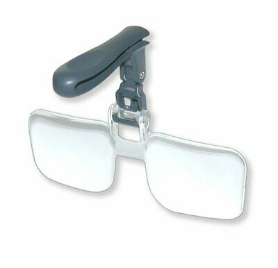 Clip On Magnifier Magnifying Glass 2.25 X Lens Glasses Hats Caps Reading Elderly