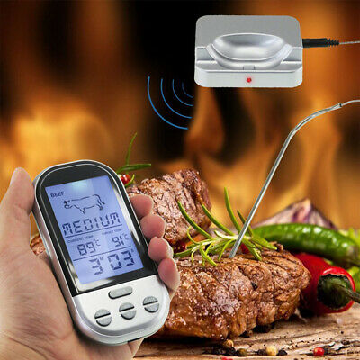 Wireless Remote Digital Cooking Probe Food Meat Thermometer BBQ Accessories