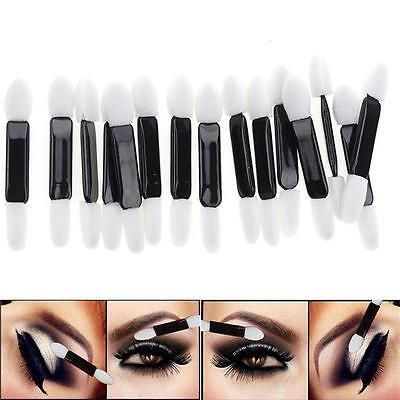 50Pcs Double Ended Disposable Eye Shadow Sponge Applicators Make Up Brush DB