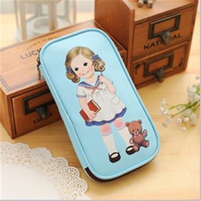 Children Little Doll Pen Pencil Case Bag Stationery Zipper Bags Stationery DB