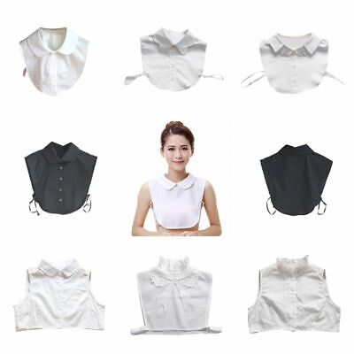 Womens Detachable False Collar Fake Shirt Label Chic Blouse Collar Bib Label US