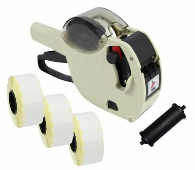 Ivory Motex 2612 Date Coding Gun + White Peelable Labels & Spare Ink
