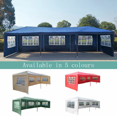 5 Colours 3M x 9M PE Gazebo Waterproof Garden Marquee Canopy Tent Awning Party