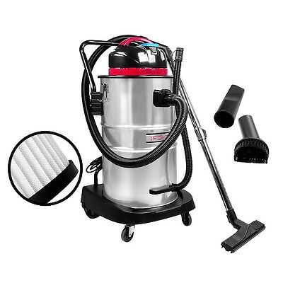 Wet & Dry Vacuum Cleaner and Blower Commercial Industrial Grade Bagless Vac 60L