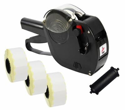 Black Motex 2612 Date Coding Gun + Use By Labels & Spare Ink
