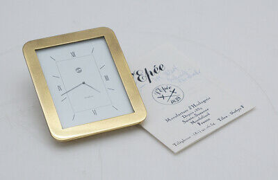 L Epee Tischuhr Uhr Messing Clock Regarder Horloge de bureau Quartz goldfarbend