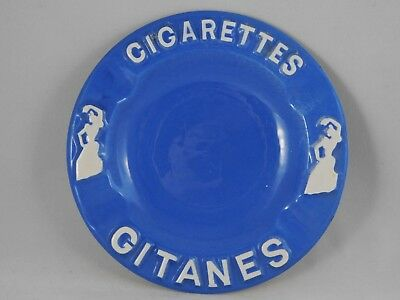 Cendrier Pub Cigarettes Gitanes En Ceramique  Diam 14Cm  French Vintage Ashtray