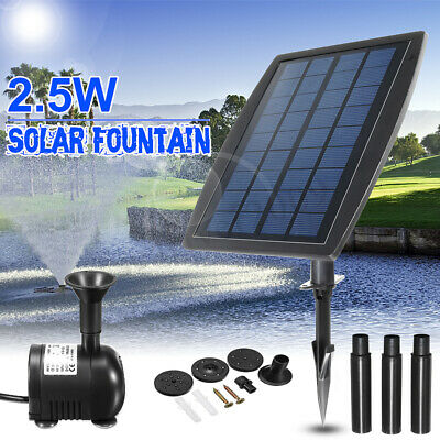 2.5W Solar Panel Floating Fountain Water Pump Kit Waterfall Outdoor Submersible