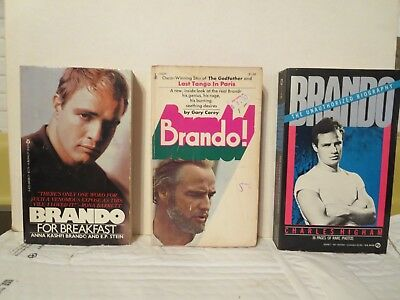 MARLON BRANDO (3 softcover books) Elia Kazan, The Godfather, On The Waterfront