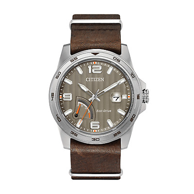 Citizen Eco Drive J850 PRT Water Proof Stainless Steel Watch, Brown Leather