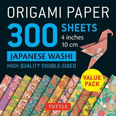 Origami Paper - Japanese Washi Patterns- 4 inch (10cm) 300 shee... 9780804849227