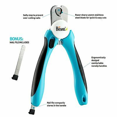 Dog Nail Clippers and Trimmer by Boshel with Safety Guard to Avoid