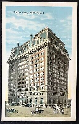 Vintage Postcard - The Belvedere Hotel, Baltimore, Md, Early 1900'S
