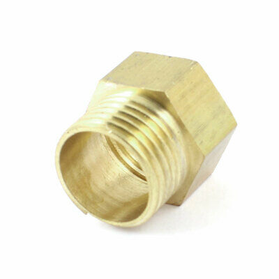 """Hydraulic 1/2"""" NPT Female to 1/2"""" PT Male Brass Hex Head Busing Connector"""