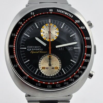 Large Original Seiko 6138-0011 Ufo Speedtimer Chronograph Automatic Day Date