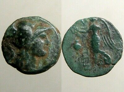 PAMPHYLIA SIDE BRONZE AE15___Occupied by Alexander the Great__