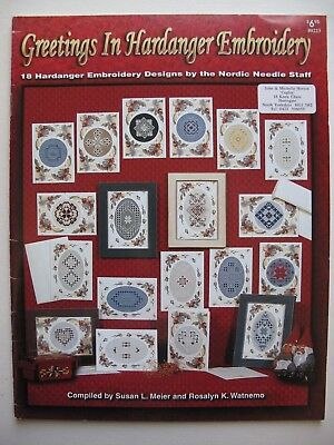 GREETINGS IN HARDANGER EMBROIDERY - 18 Hardanger Embroidery Designs
