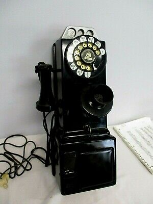 Automatic Electric Co. 3 Slot Coin Operated Rotary Dial Telephone ~ Works