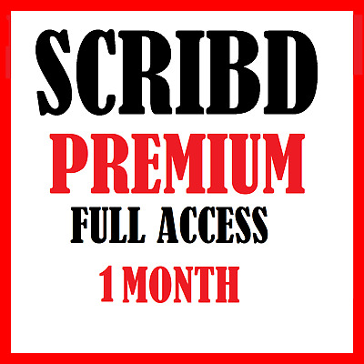 SCRIBD Account With All Premium Privileges 1 Month NEW