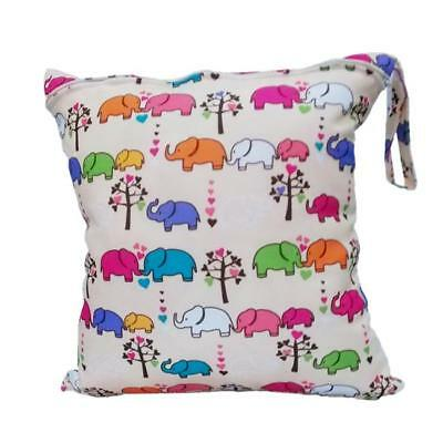 Reusable Waterproof  Wet / Dry Bag Pouch for Baby Infant Cloth Diapers Nappy DB