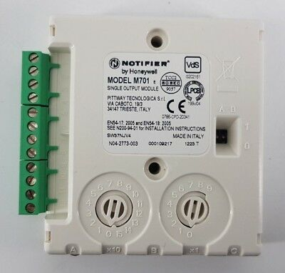 Notifier by Honeywell M701 Addressable Single Output Module Inc VAT SK182 AA 10