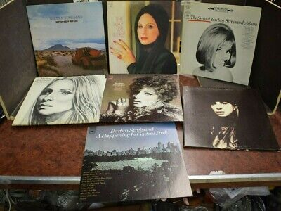 Lot of 7 Barbara Streisand Vinyl LP Records CLEAN STACK