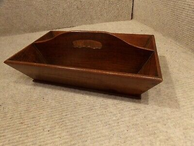 Vintage Cutlery Tray/Box with Handle