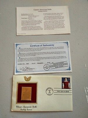 22kt Gold Replica U.S. First Day Cover Ludwig Greiner~LAST CHANCE NO RELIST