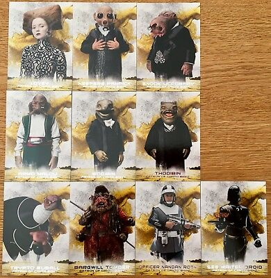 2018 Star Wars The Last Jedi Series 2 Patrons of Canto Bight Set 10 cards