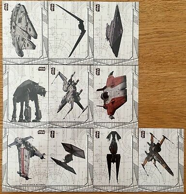 2018 Star Wars The Last Jedi Series 2 Ships and Vehicles Set 10 cards