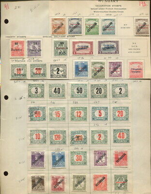 Hungary Occupation Stamps On Album Pages-1919!