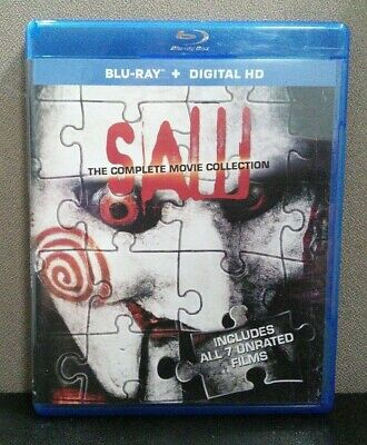 Saw: The Complete 7 Movie Collection   (Blu-ray) No Digital  Unrated    LIKE NEW