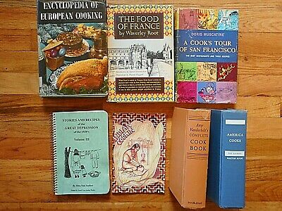 Mixed Lot of 7 Vintage & Ecclectic Cookbooks