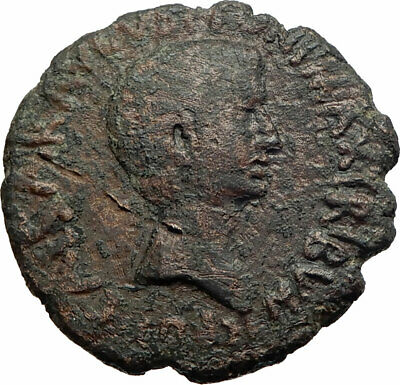 AUGUSTUJS Authentic Genuine Ancient 5BC Rome Original LARGE Roman Coin i74610
