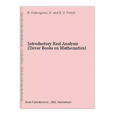 INTRODUCTORY REAL ANALYSIS Dover Books on Mathematics - EUR 13,93