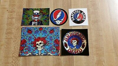 5 Grateful Dead Stickers. Bertha. Steal Your Face. Uncle Sam.