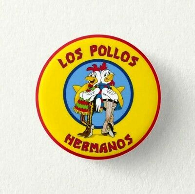 Chapa Pin Badge Button HEISENBERG, LOS POLLOS HERMANOS