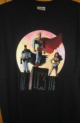 Justice League of America T-Shirt, Size XL, Black