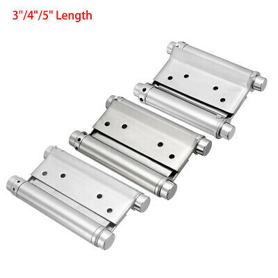 """3""""/4""""/5"""" Double Action Saloon Cafe Bar Door Spring Hinge Stainless Steel Brushed"""