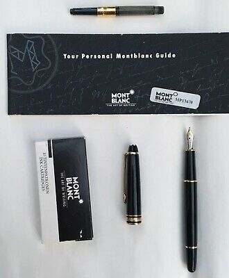 Mont Blanc Black Meisterstuck  Fountain Pen Pen 4810 14k Nib  - Excellent Con