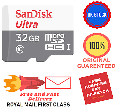 Sandisk 32GB micro SD card memory card UHS-I class 10 SDHC Ultra TF sd ✅ NEW
