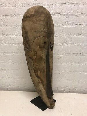 170618 - Large Old & Tribal used African Mask from the Fang - Gabon.