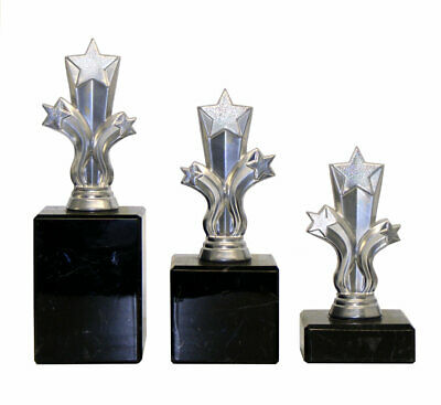 Personalised Silver  Micro Shooting Star Trophy Multi Award Engraved