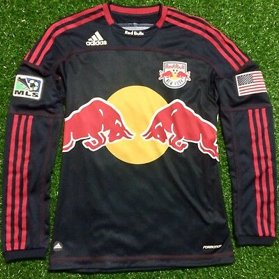 90cd9808d16 MLS Red Bulls NY Away Soccer Jersey Long Sleeve Player Issue Match Version  Slim